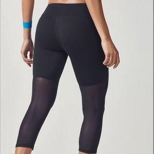 Fabletics mesh bottom cropped leggings